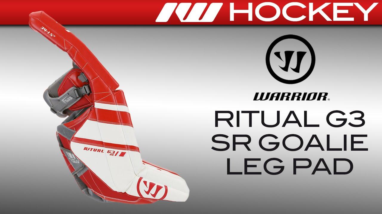 49c032bf541 Warrior Ritual G3 Goalie Leg Pads Review - YouTube