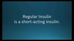 How to pronounce regular insulin (Humulin R) (Memorizing Pharmacology Flashcard)