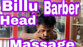 Billu Barber Head, Forehead and arm massage with finger cracking by Indian barber//asmr