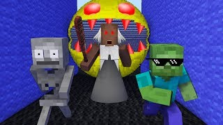 Monster School : HORROR PACMAN & GRANNY GAME CHALLENGE - Minecraft Animation