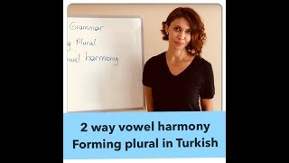 Learn Turkish & Forming Plural - 2 way vowel harmony