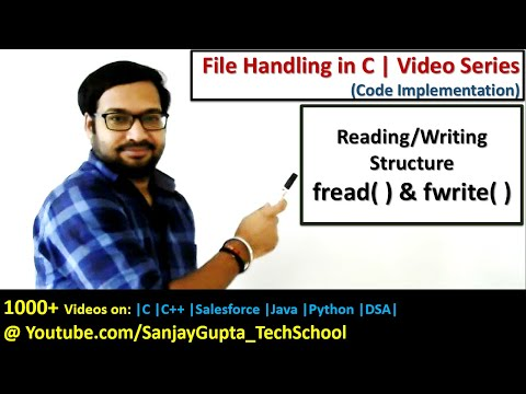fwrite( ) and fread( ) to write and read structure from file using file handling in c programming