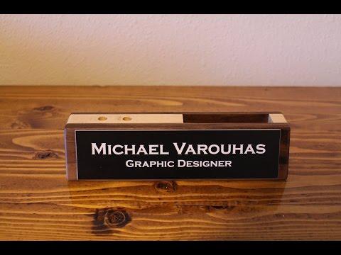 The Maple & Walnut Desktop Nameplate