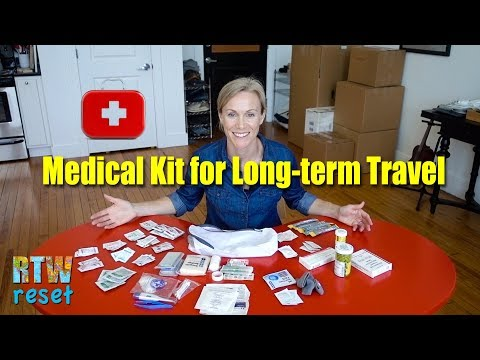 Medical and first aid kit for long-term RTW travel