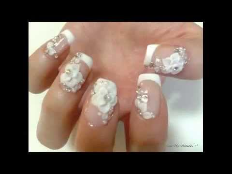 Decoracion de Uas de Gel Sencillas y Bonitas YouTube