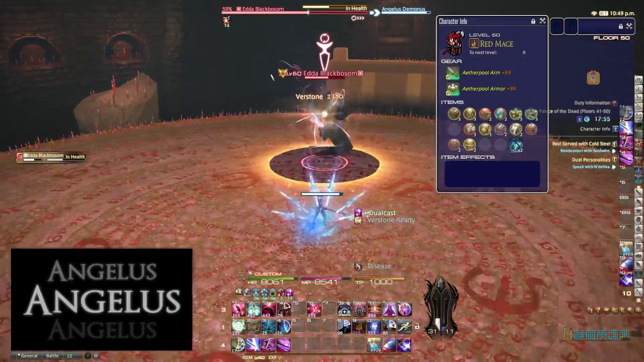 FFXIV HC Solo - (RDM) PoTD Floor 50 Boss (Clear) - Angelus Demonus