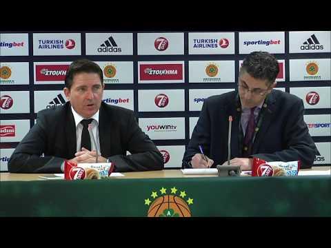 Euroleague Post - Game Press Conference: Panathinaikos Superfoods vs Zalgiris Kaunas