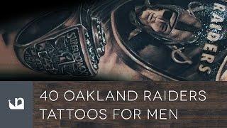 40 Oakland Raiders Tattoos For Men