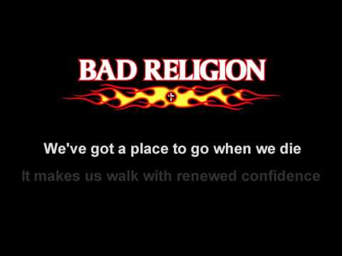 American Jesus - Bad Religion - (HD) Lyrics on screen