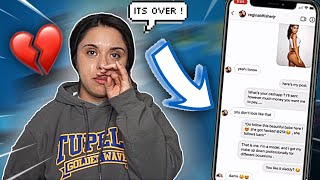 CATFISHING My Boyfriend To See If He CHEATS LEADS TO REAL BREAKUP **WE BROKE UP** 💔😭