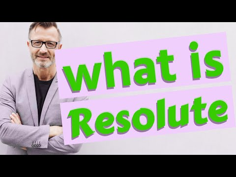 Resolute   Definition of resolute