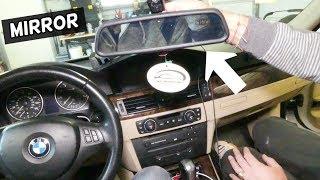 HOW TO REMOVE AND REPLACE REAR VIEW MIRROR ON BMW E90 E92 E91 E93