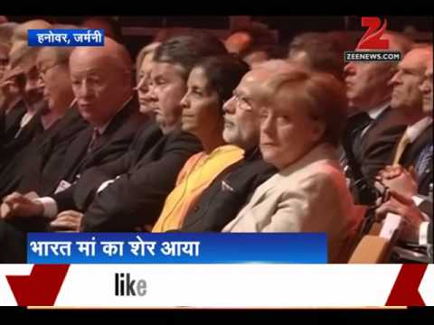 """Make in India lion a """"symbol of new India'', says PM Modi at Hannover Messe's opening ceremony"""