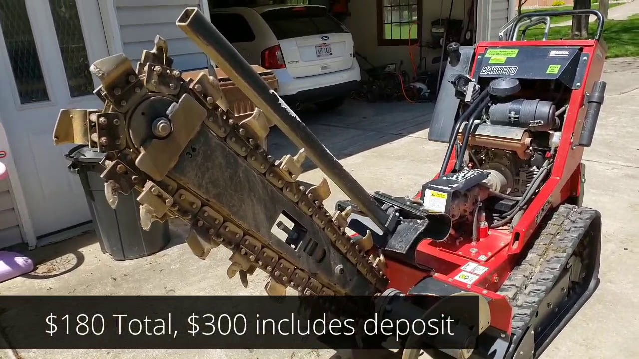 Dig A Trench Home Depot 36 Trencher