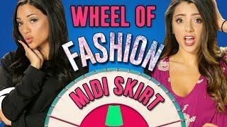 Kylie Jenner Style Midi Skirts! Wheel Of Fashion w/ Niki And Gabi