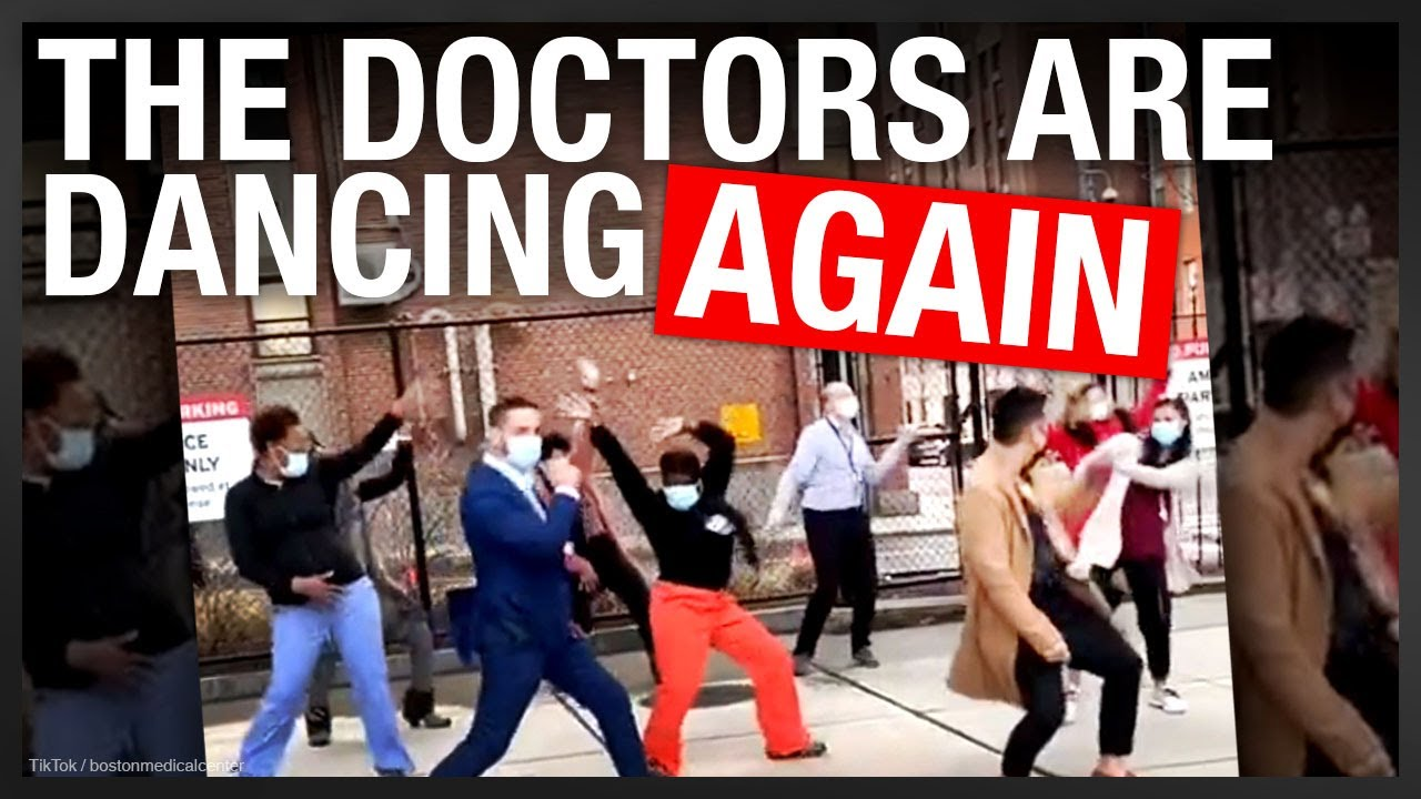 Healthcare workers dance on TikTok while the service industry shuts