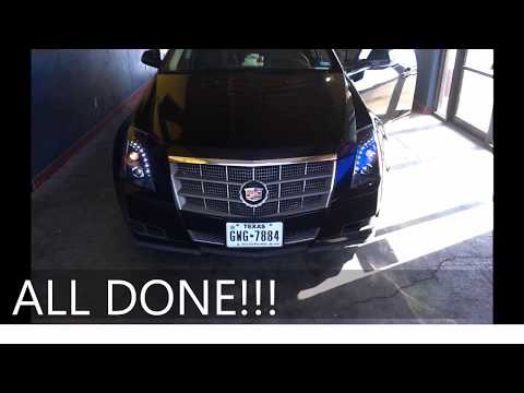 Cadillac CTS 08-13 Headlight Replacement/Repair NO BUMPER REMOVED