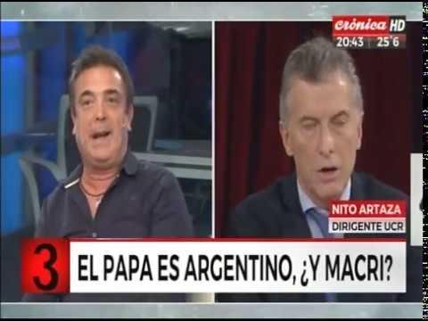 """Nito Artaza con Santiago Cúneo: """"Macri no tiene sensibilidad social"""""""
