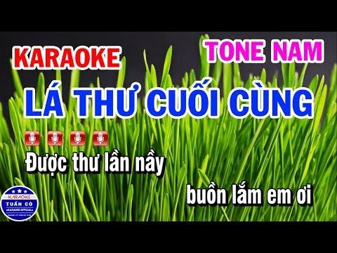 Karaoke Lá Thư Cuối Cùng | Cao Dũng!