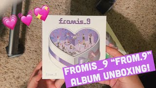 a fromis_9 stan unboxes from.9 💌