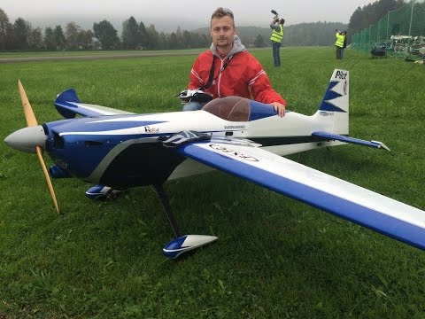 Huge Rc Edge 540 With 2.80m Wingsp. And A 120cc Engine At Hausen Am Albis Flugtag 2014
