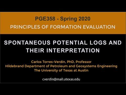 Spontaneous Potential (SP) Logs: PGE358, Spring 2020