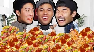 6 LARGE PIZZA'S IN 10 MIN CHALLENGE?!