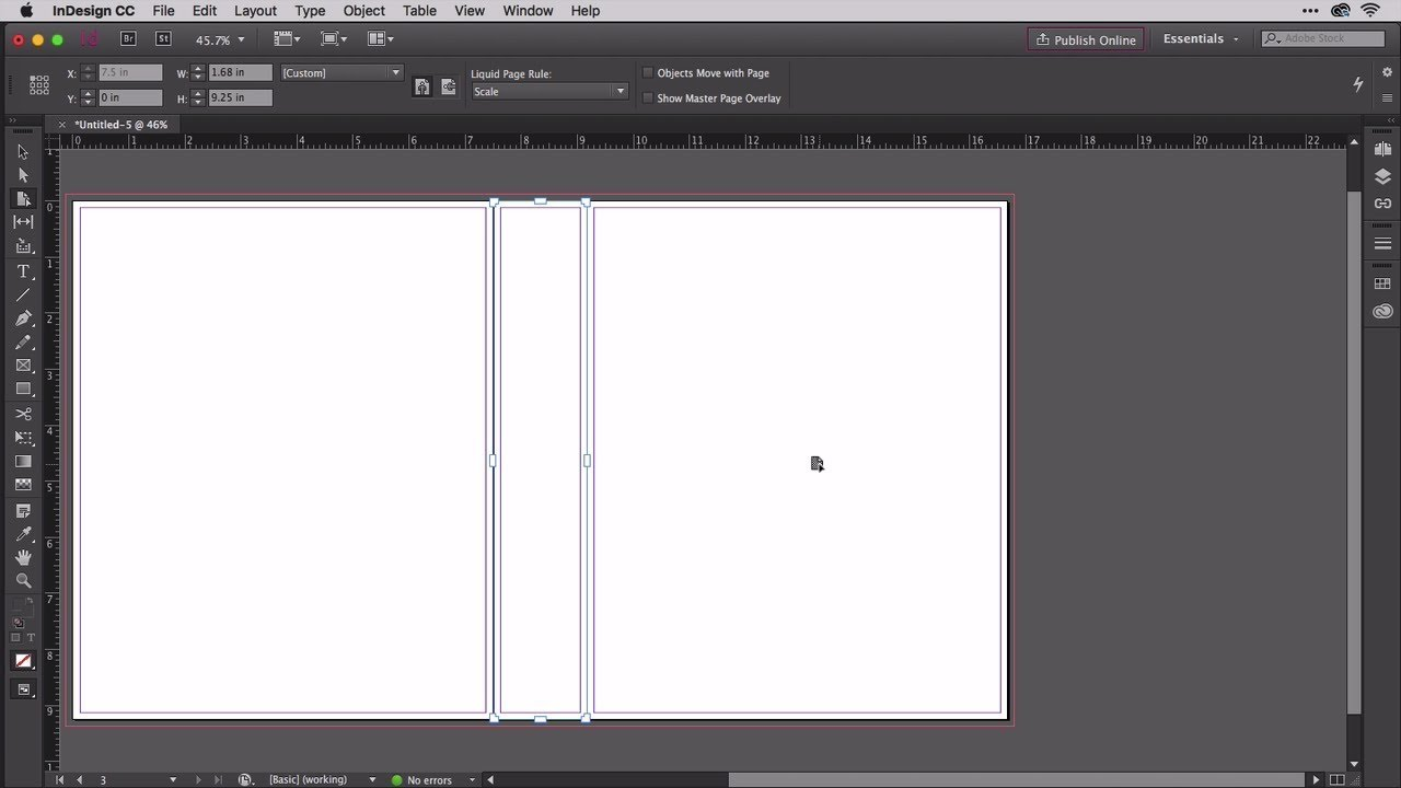 Building A Book Cover In Indesign With 3 Up Layout Of Cover Spine And Back Cover