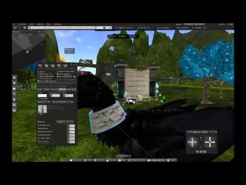 Second life Guide: How put to object or stuff in your avatar dragon