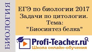 ЕГЭ по биологии 2017. Задачи по цитологии. Биосинтез белка. Profi-Teacher.ru