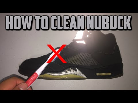 HOW TO CLEAN NUBUCK JORDANS  / SHOES (JORDAN 5 METALLIC RESTORATION)