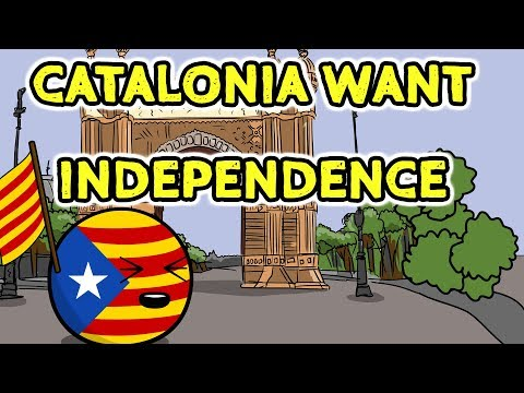 Catalonia wants independence - Countryballs