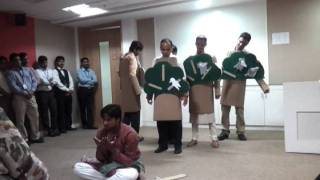 IBM-UPS Pune team with its Skit to Protect environment