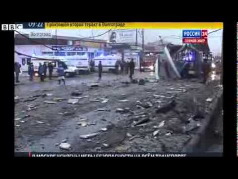 BBC NEWS Volgograd blasts  Bus explosion hits Russian city