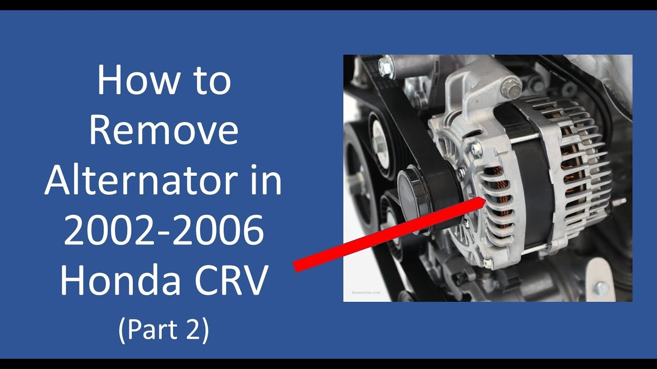 How To Remove 2005 Honda Crv Alternator Without Removing Radiator Part 2