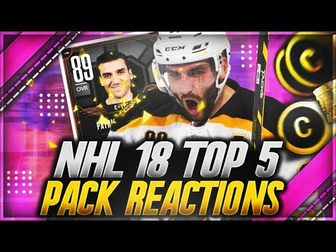 NHL 18 HUT: 'TOP 5 PACK REACTIONS OF THE MONTH' (INSANE NOVEMBER PULLS)