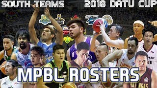 MPBL Rosters/ Lineups | 2018 Datu Cup South Teams
