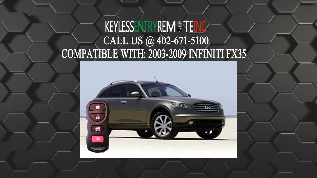 How To Replace Infiniti FX35 Key Fob Battery 2003 2004 2005 2006 2007 2008  2009