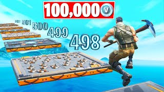 Default DEATHRUN WINNER Gets 100,000 VBucks! (Fortnite Creative Gamemode)