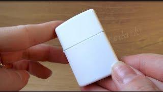 Зажигалка Zippo 214 White Matte (Видео обзор) podarki-odessa.com