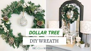 DIY Dollar Tree Christmas Wreath | Dollar Tree Christmas Decor 2018