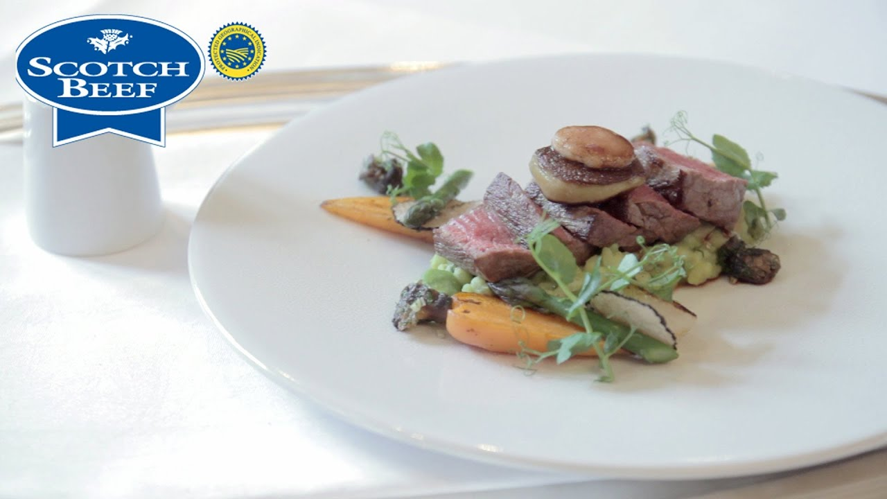 Michelin Star Chef Brian Grigor Creates A Scotch Beef With Asparagus And Red Wine Sauce Recipe Youtube