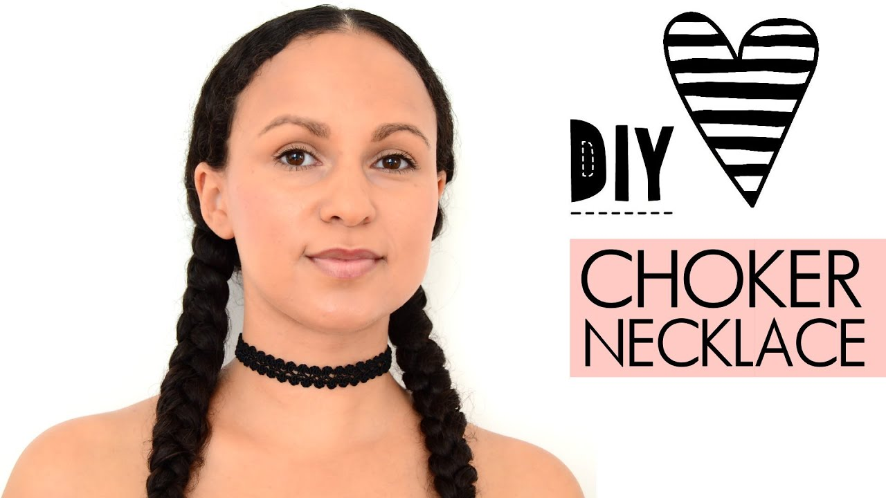 diy choker kette einfach selbst machen tattoo necklace halskette aus spitzenborte youtube. Black Bedroom Furniture Sets. Home Design Ideas