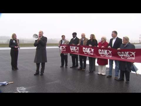 Akron-Canton Airport - Runway 5/23 Ribbon-Cutting and Inaugural Flight