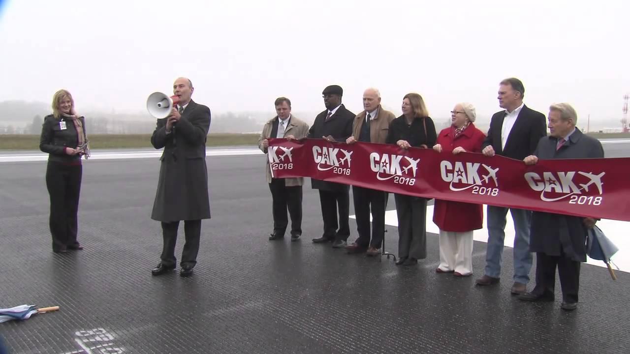 Akron-Canton Airport - Runway 5/23 Ribbon-Cutting and Inaugural Flight