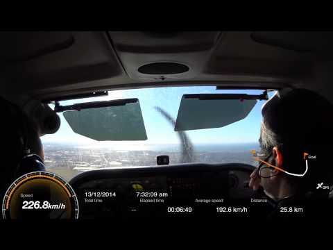 Melton Reservoir to Essendon Airport (YMEN) in Cessna 172 - 13 Dec 2014