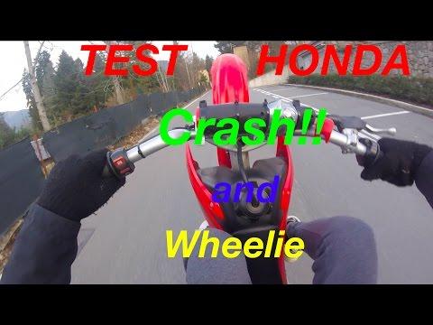 ILLEGAL ENDURO!! [Honda crf 70]+ CRASH