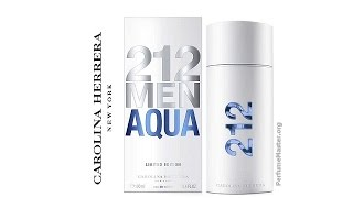 видео Carolina Herrera 212 Mens Aqua Eau de Toilette 100 ml
