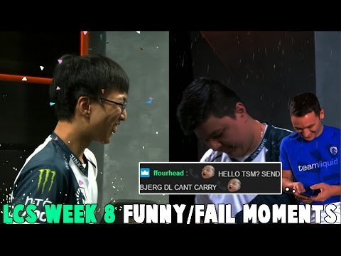 LCS WEEK 8 FUNNYFAIL MOMENTS - 2017 Spring Split