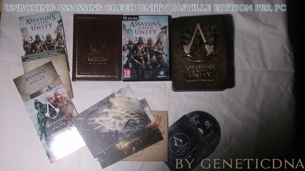 Unboxing AssassinS Creed Unity Bastille Edition (PC) - YouTube